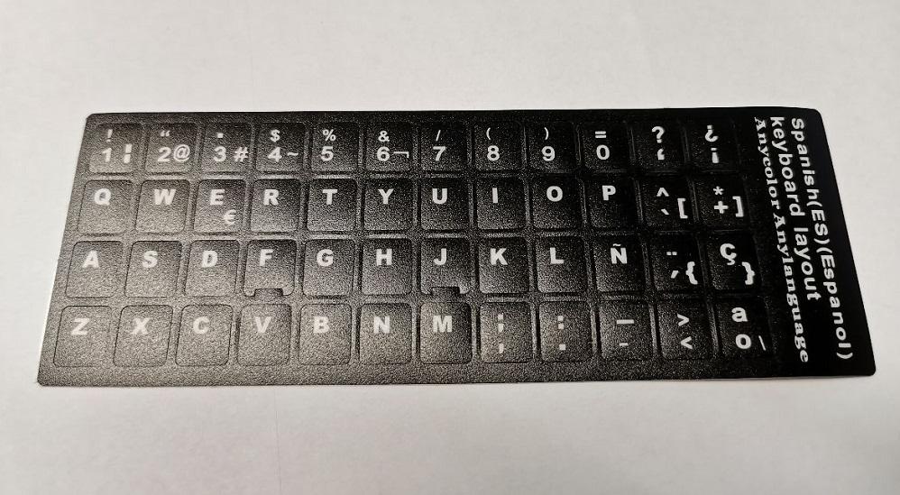 piezasdeportatil.es - Pegatinas de vinilo negro para teclados en Español