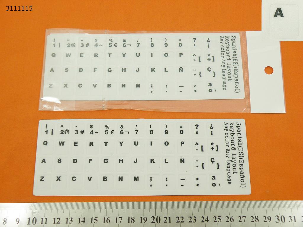 piezasdeportatil.es - Pegatinas de vinilo blanco para teclados en Espa�ol